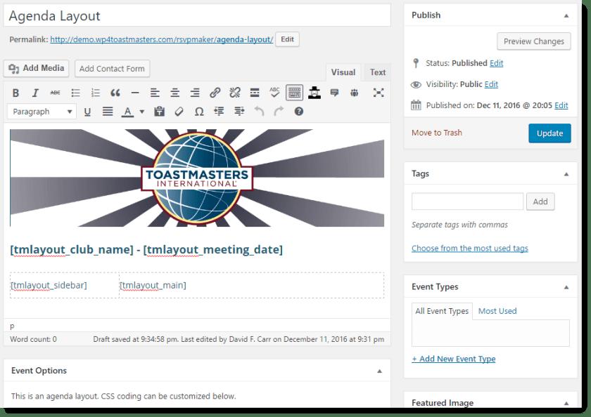 customizable-agenda-editor