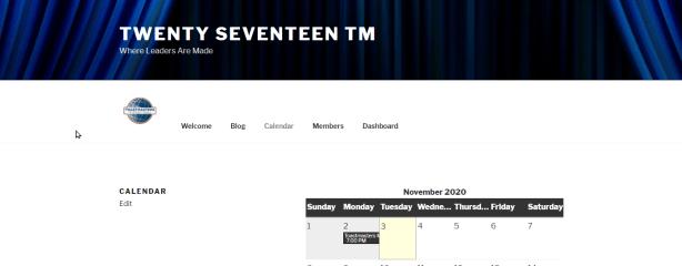 Screenshot: Twenty Seventeen TM inside page