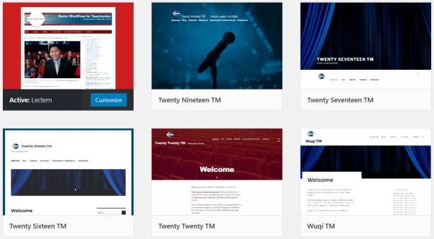 Toastmasters club website design choices