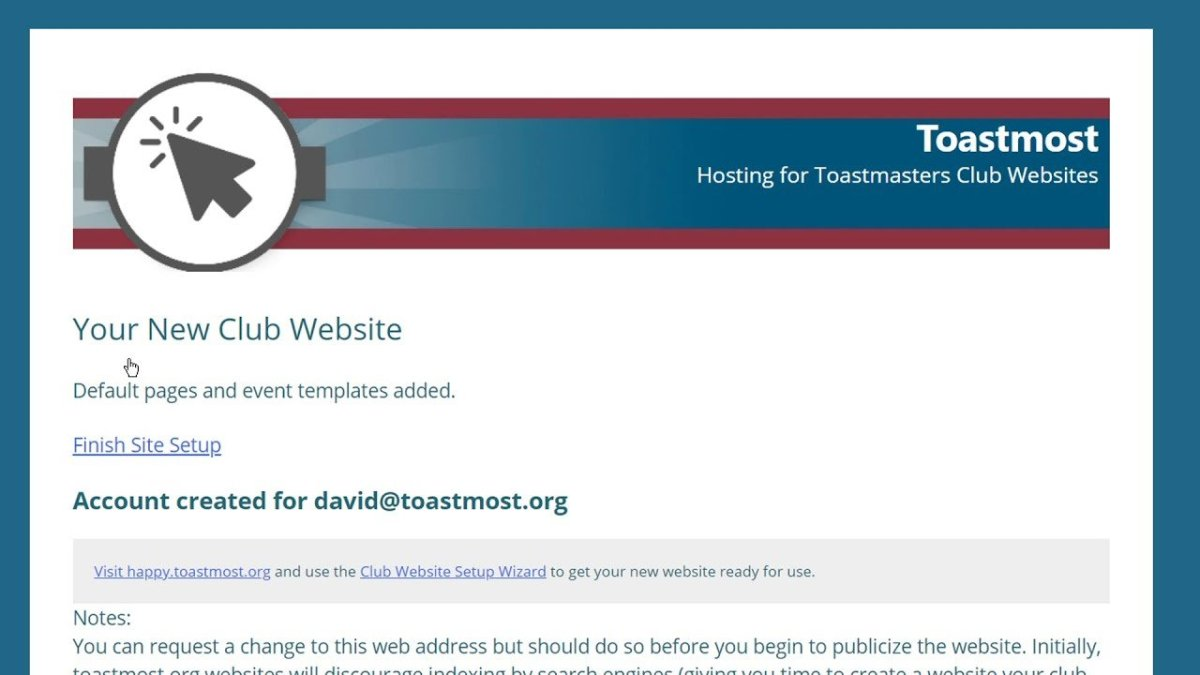 Get a Toastmasters Club Website in Minutes, Powered by WordPress
