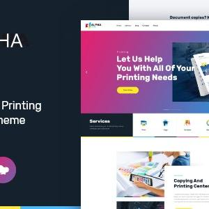 AlphaColor – Type Design & Printing Services WordPress Theme