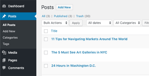 Blog posts imported