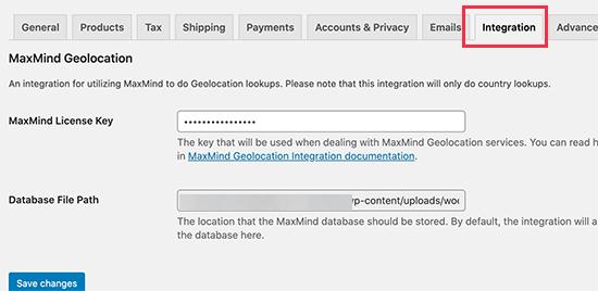 MaxMind API key