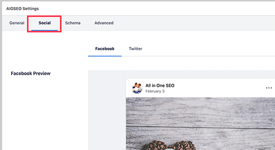 Social settings for your post or page