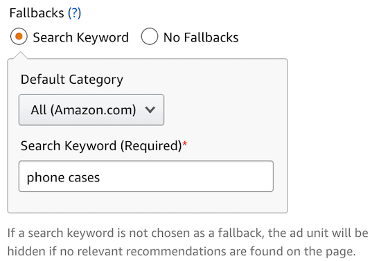Add product keyword fallback