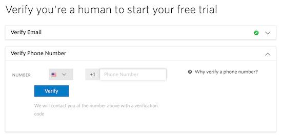 Verify Twilio account