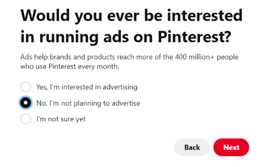 Planning to run Pinterest ads