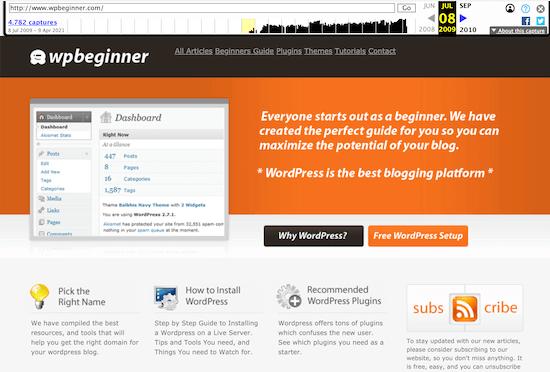 Wayback Machine old website