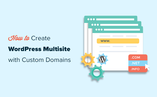 Creating WordPress multisite with different domains