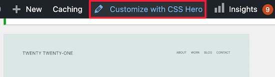 Customize with CSS Hero