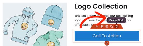 Delete button block