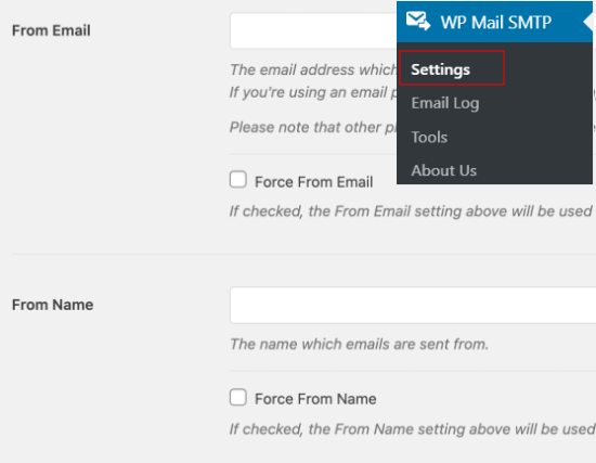 From Email and Name in WP Mail SMTP settings