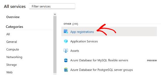 Select App Registrations