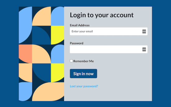 SeedProd login page example