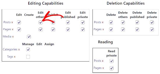 Habilitar la casilla de verificación Editar otros