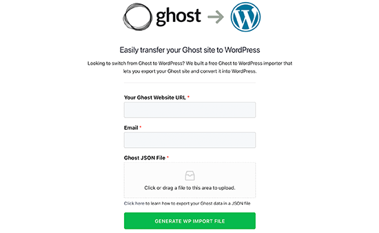 Ghost to WordPress migration tool