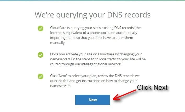 cloudflare memindai DNS Anda