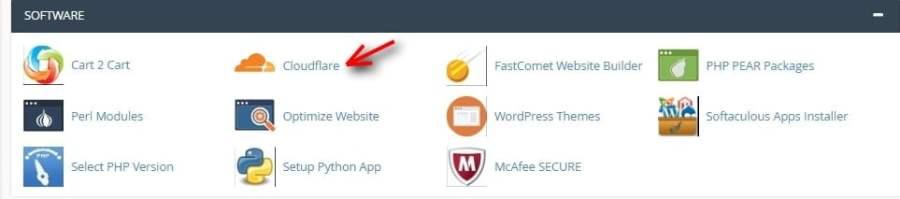 Instal CloudFlare melalui cPanel