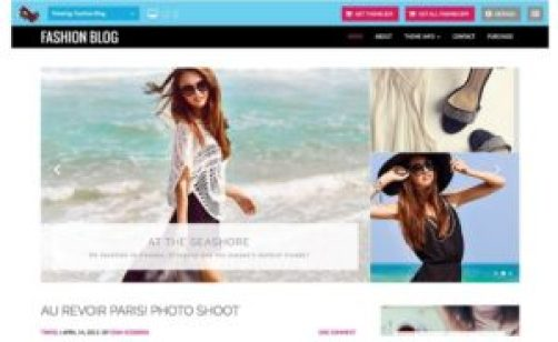 Tema Fashion Blog WordPress
