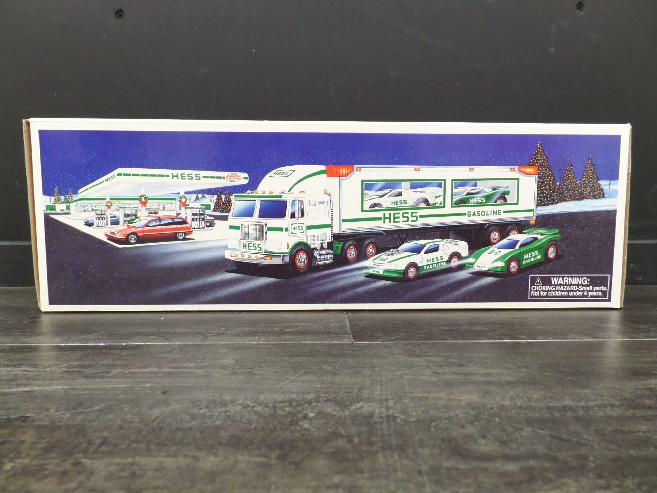 1997 HESS TRUCK WITH RACERS <br/> Donated by: WPBS SUPPORTER <br/> Valued at: $50
