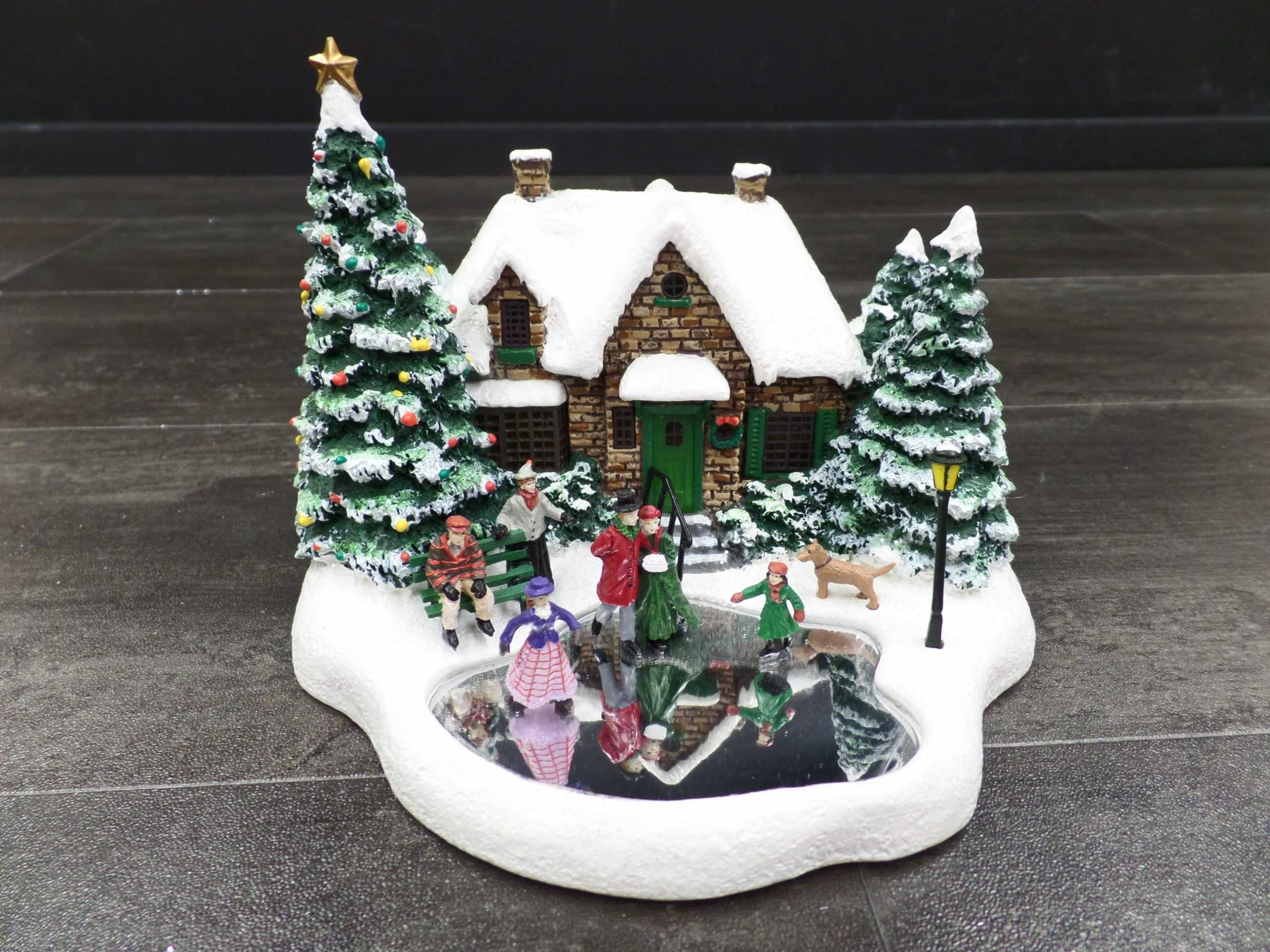 2004 THOMAS KINKADE CHRISTMAS VILLAGE SKATER'S POND <br/> Donated by: WPBS SUPPORTER <br/> Valued at: $30 <br/> Buy It Now: $20