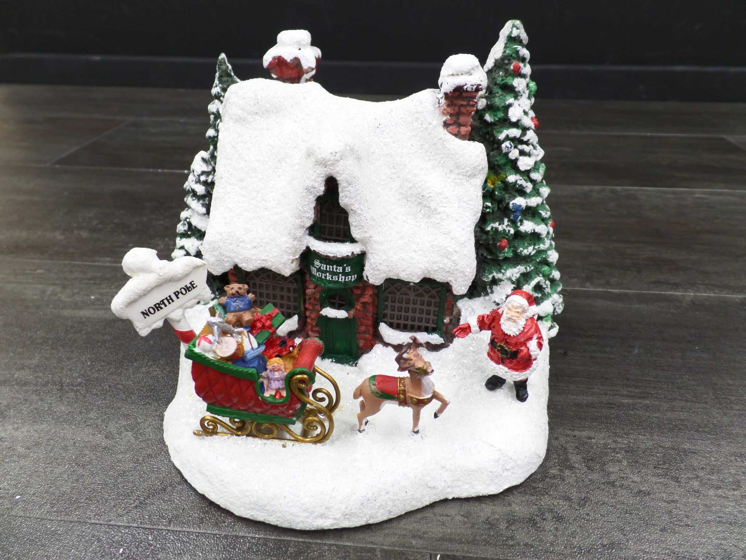 2010 THOMAS KINKADE SANTA'S WORKSHOP <br/> Donated by: WPBS SUPPORTER <br/> Valued at: $30 <br/> Buy It Now: $20