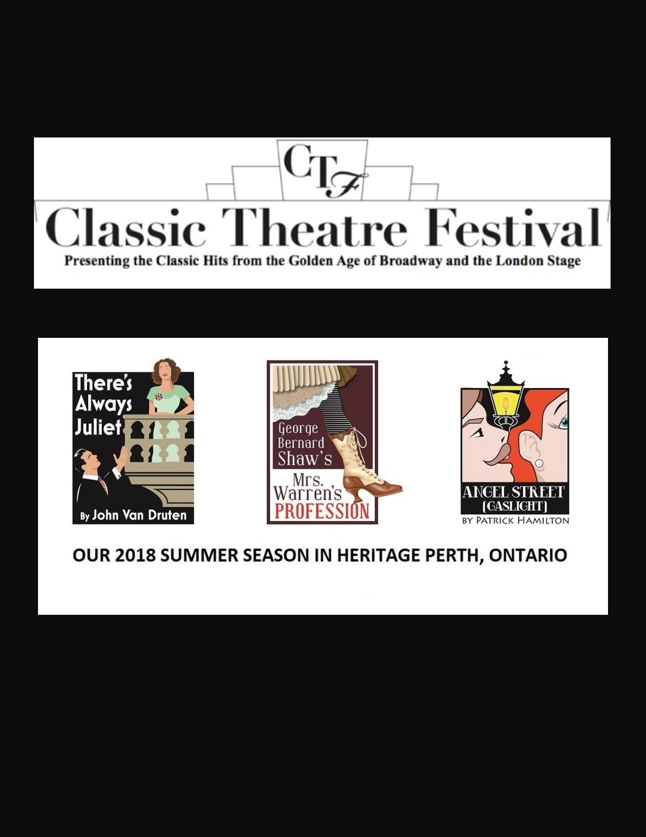 2 TICKET VOUCHERS  Donated by: CLASSIC THEATRE FESTIVAL  Valued at: $78  Buy It Now: $23