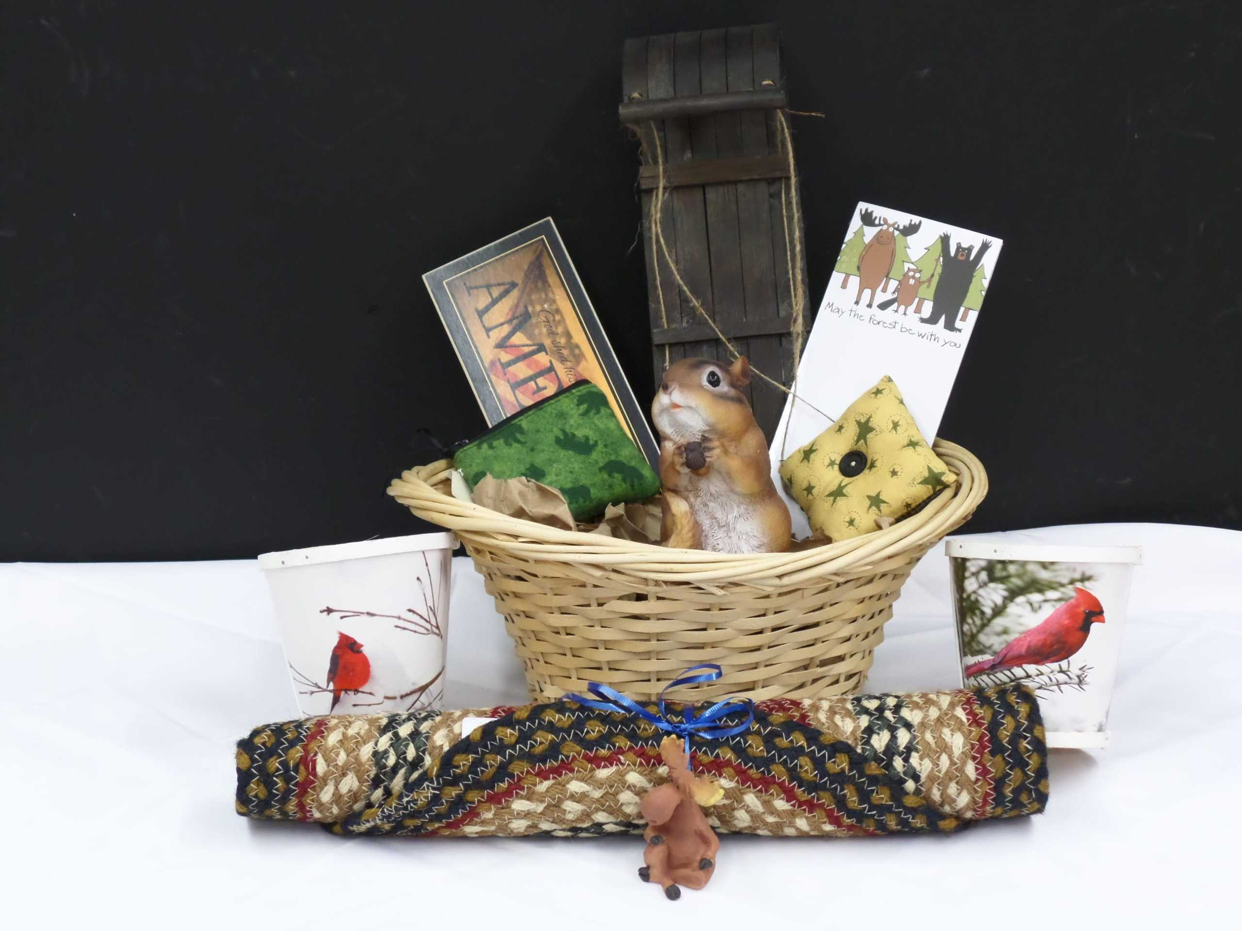 GIFT BASKET <br/> Donated by: NYS WOODSMEN'S FIELD DAYS <br/> Valued at: $100