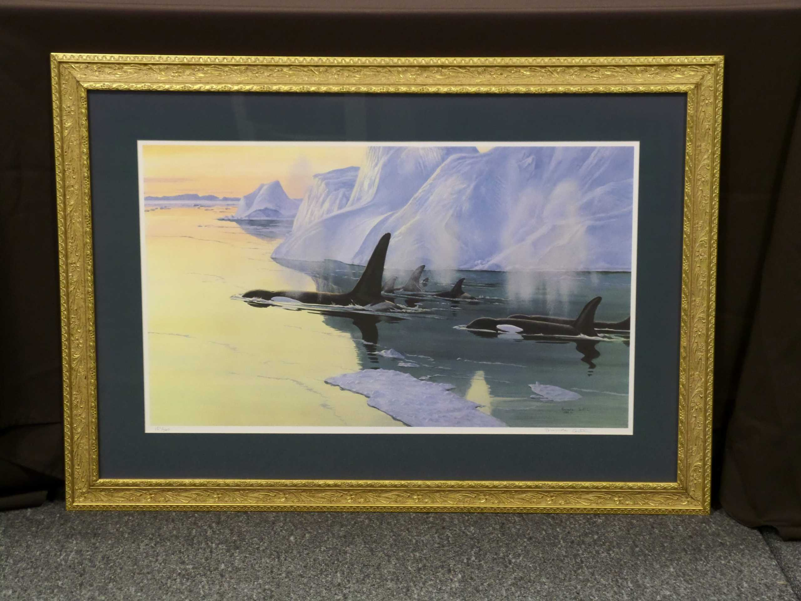FRAMED ORCA PRINT <br/> Donated by: DON DIMONDA <br/> Valued at: $375