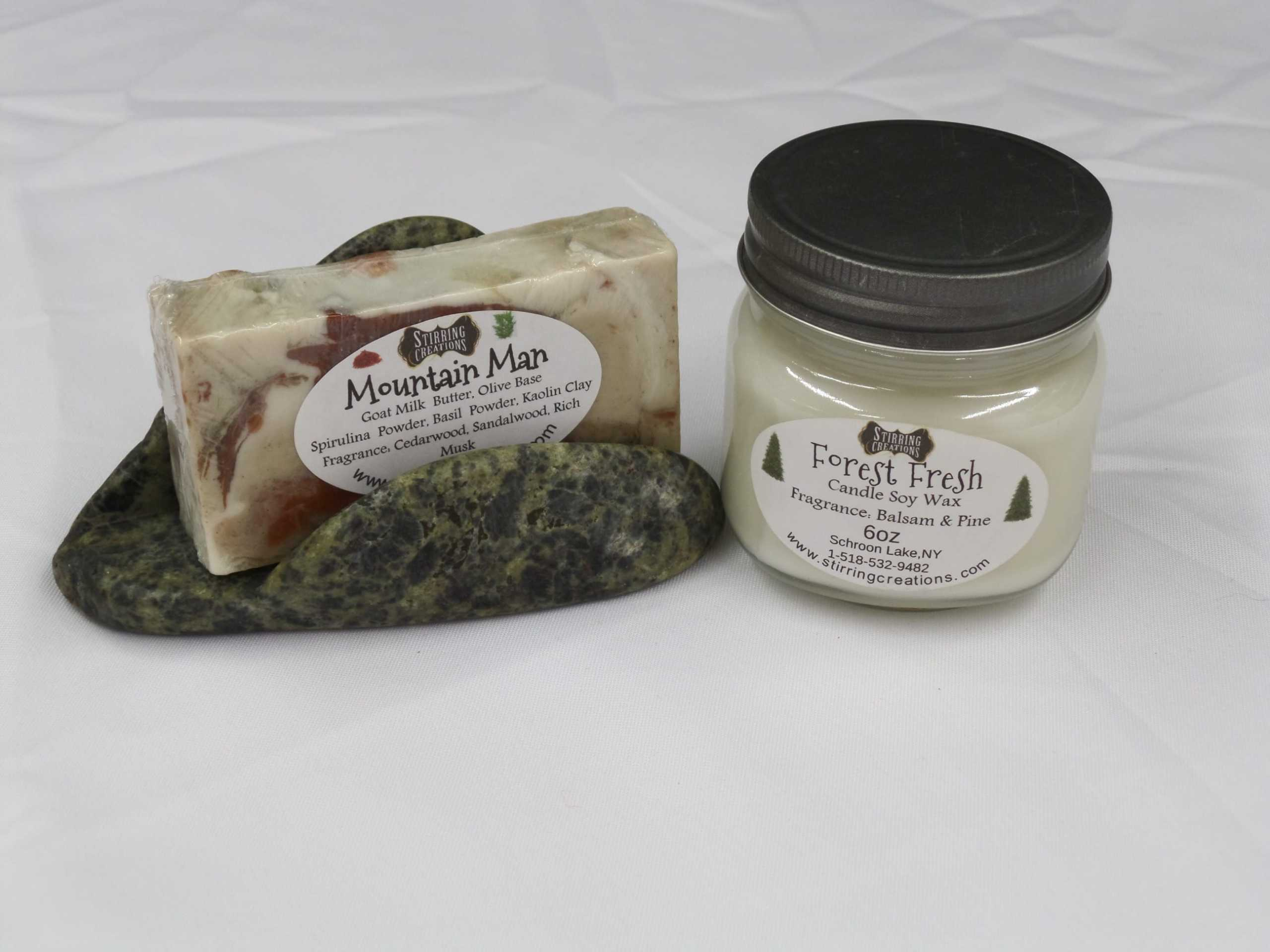 STONE GIFT SET <br/> Donated by: STIRRING CREATIONS <br/> Valued at: $41