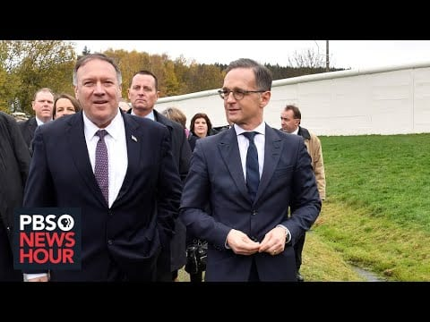 WATCH: Secretary of State Mike Pompeo meets with German FM in Germany