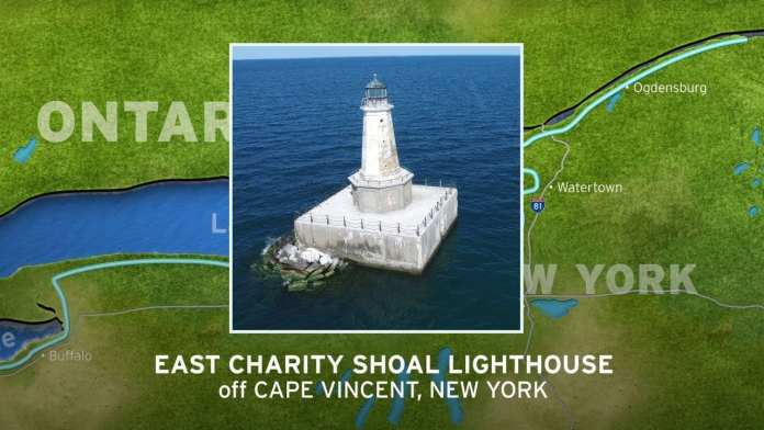 East Charity Shoal Lighthouse | New York's Seaway Lighthouses