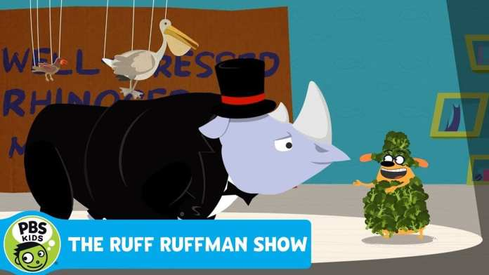 THE RUFF RUFFMAN SHOW | Music Video: A Well-Dressed Rhinoceros | PBS KIDS