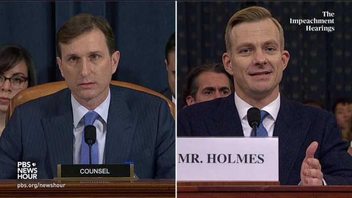 WATCH: Democratic counsel's full questioning of Hill and Holmes | Trump impeachment hearings