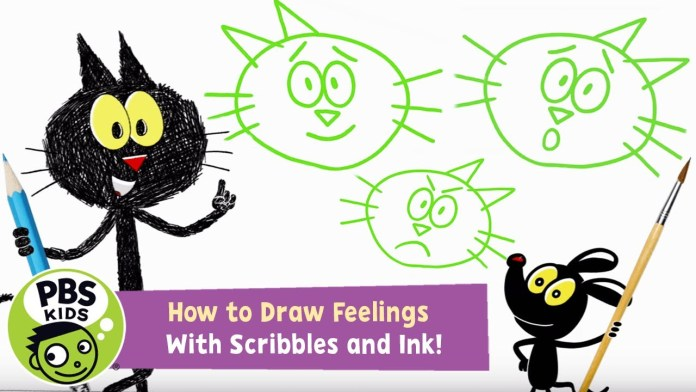 How to Draw Feelings with Scribbles and Ink! | PBS KIDS