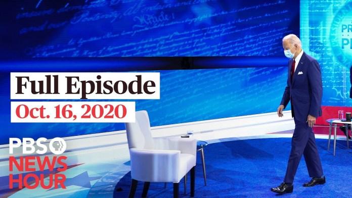 PBS NewsHour full episode, Oct. 16, 2020