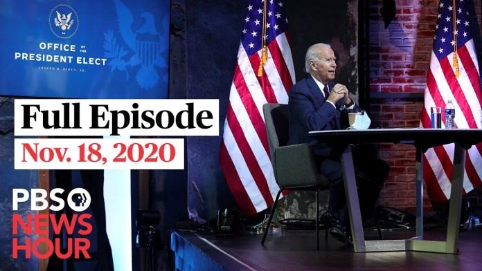 PBS NewsHour full episode, Nov. 18, 2020