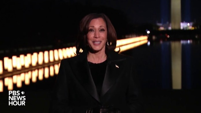 WATCH: Kamala Harris makes first speech as vice president, urges country to 'see beyond the crisis'
