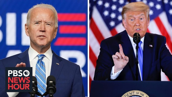 The stark difference between Trump's and Biden's responses to vote counting