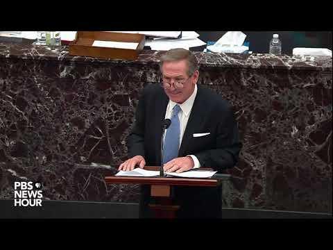 WATCH: Trump impeachment defense lawyer Michael van der Veen delivers closing argument