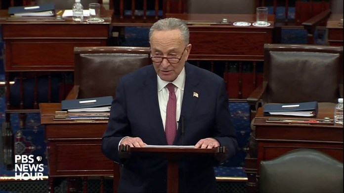 WATCH: Failure to convict Trump is 'vote of infamy,' Sen. Schumer says