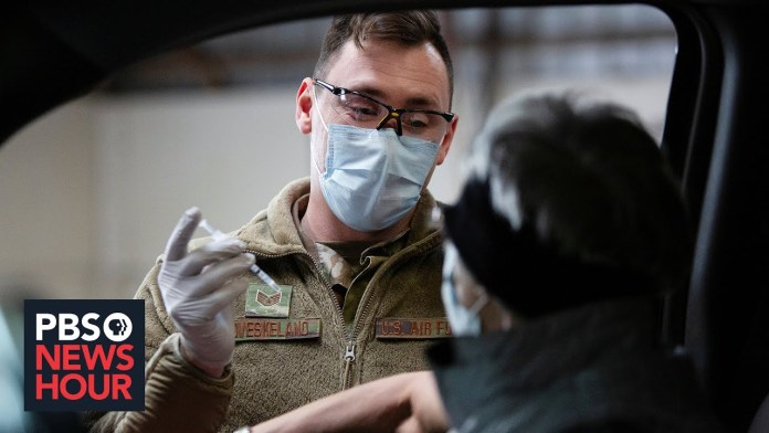 News Wrap: Pentagon to mobilize more than 1,100 troops to expedite vaccinations