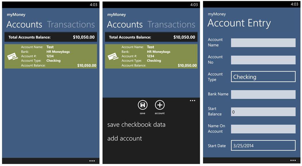 myMoney Accounts
