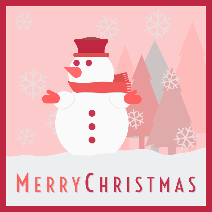 Snowman Christmas Card HolidayChristmasdecorations
