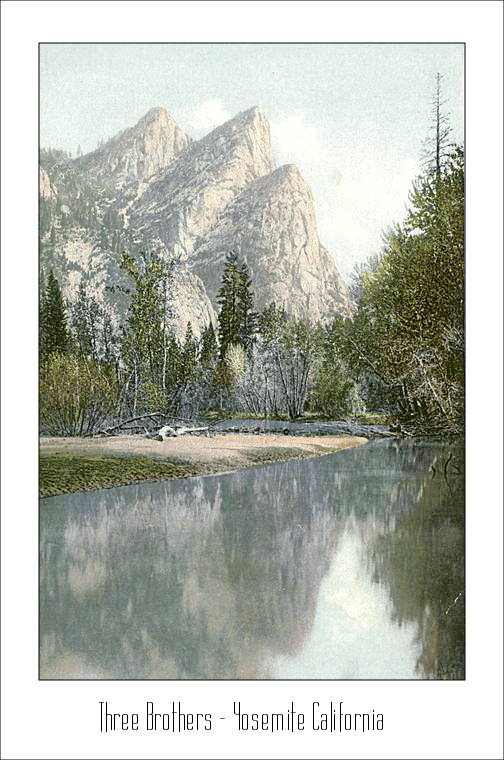 Three Brothers  Yosemite Calironia