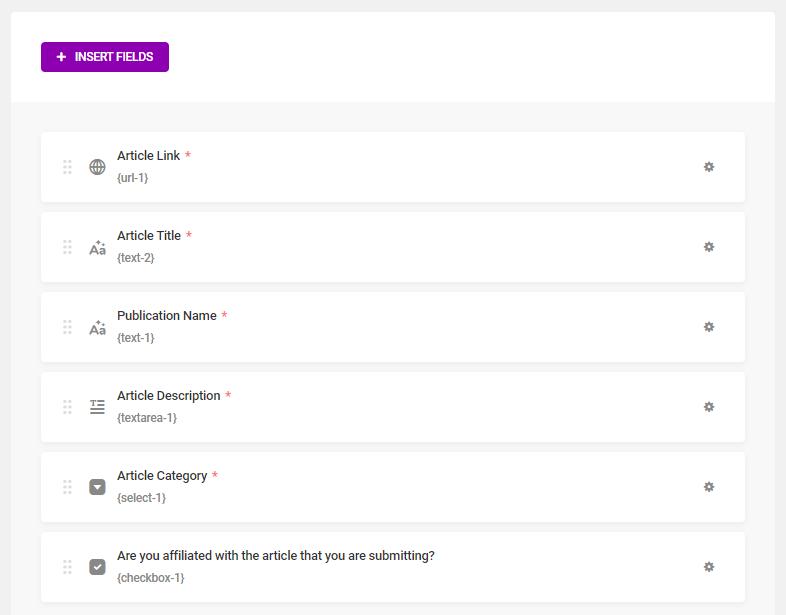 Forminators interface