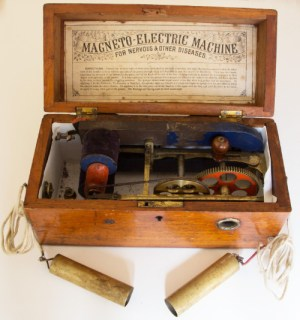 SWEHS000098a.jpg - Date c1850/1910 - Magneto Electric Machine For nervous and other diseases. Used in 'electrotherapy'..
