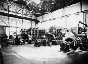 SWEHS 7.0.076.jpg - Date c1931 - Commenced supply in 1927. Original plant 3 x Mirrlees diesels with (s x 200 + 1 x 132)kW alternators. Added 1931 - Crossley diesel with 300kW Crompton alternator. Added 1934 - Newton diesel with 225kW Newton alternator. Final installed capacity 1057kW. Cornwall, St. Blazey Pontsmill Power Station. Built by St Austell Company to supply china clay works..
