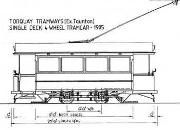 Single Deck 4 Wheel Tram Car