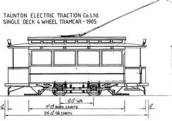 Single Deck 4 Wheel Tram Car